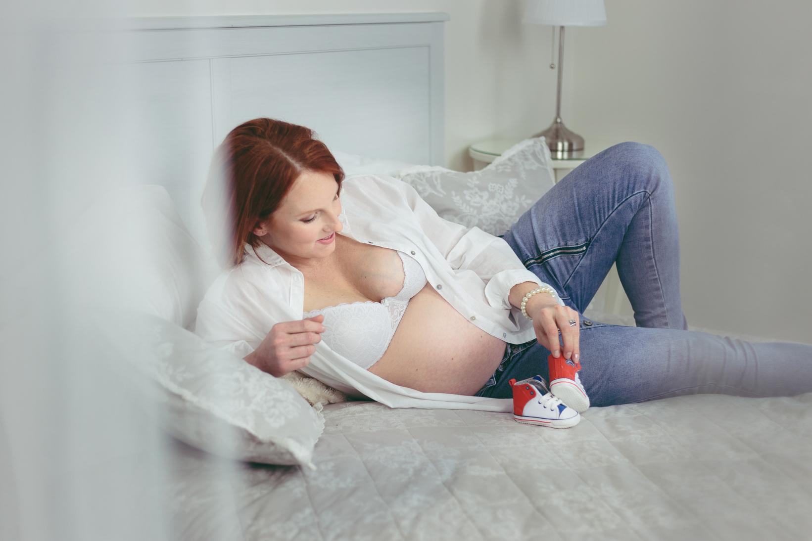 těhotenský boudoir